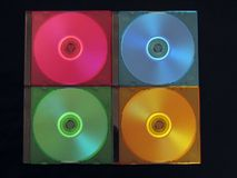 CD, DVD-box. CD, DVD, box, colourful, computers Stock Images