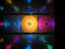 CD, DVD-box. CD, DVD, box, colourful, computers Stock Photo
