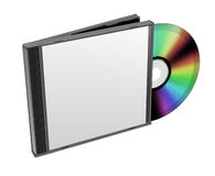 CD DVD box. Blank 3d boxes Royalty Free Stock Photos