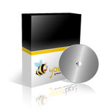 Cd and dvd box template. 3D illustration of a dvd box on a white background Stock Photography