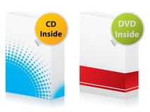 Cd and dvd boxes Royalty Free Stock Images