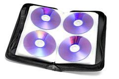 CD-DVD case. A CD-DVD case on a white background stock image