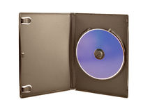 CD & DVD Case. A CD and DVD case, isolated on white stock photo