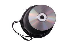 CD/DVD case. On white background Stock Images