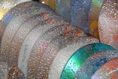 Cd / Dvd cleaning. Washing cd / Dvd`s in  dishwash machine Stock Photo