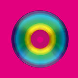CD or DVD in colorful circle design  Stock Photography