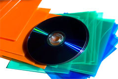 CD/DVD and Colorful Protectors Stock Photo