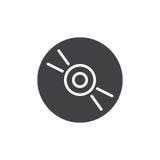 Cd, dvd compact disc icon vector Stock Photography