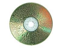 CD/DVD con le gocce dell'acqua Fotografia Stock