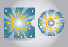 CD or DVD cover Stock Images