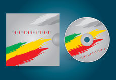 CD or DVD cover. CD or DVD editable cover template with abstract illustration Stock Photos