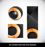 Cd Dvd cover design orange circle Stock Image
