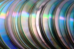 CD and DVD (data) background Royalty Free Stock Photo