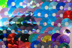 CD and DVD (data) background Stock Image