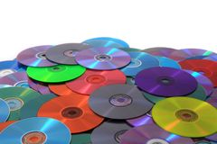 CD and DVD (data) background Stock Photos