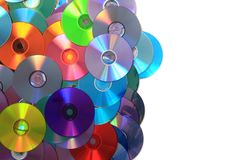 CD and DVD data background Stock Photos