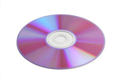 CD / DVD data disk. Isolated on white background Royalty Free Stock Image