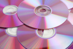 CD and DVD. Data disks close-up background Royalty Free Stock Photography