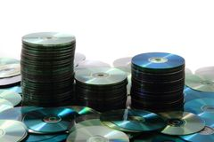 CD and DVD (data) Royalty Free Stock Photography