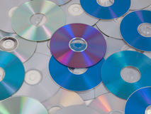 CD DVD DB Bluray disc Stock Photography