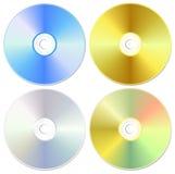 CD/DVD de uitrusting van de laser vector illustratie