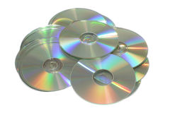 Cd or dvd disc. Photo on the white background stock photos