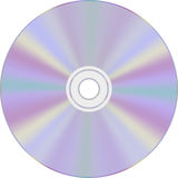 CD or DVD disc. CD or DVD optical disc on a white background Royalty Free Stock Image