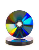 CD or DVD disc. CD or DVD disc isolated over white background Stock Images