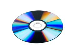 CD / DVD Disc. Cd dvd iridescent digital storage shiny movie compact disc Royalty Free Stock Images