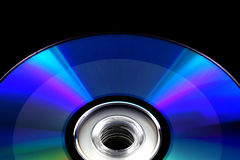 CD DVD disc recorded on black isolated Stock Photo