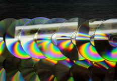 CD and DVD discs as a background Royalty Free Stock Images
