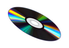 CD/DVD Disk. Colourful CD/DVD disk isolated over a white background Royalty Free Stock Images