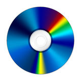 CD DVD disk. CD-ROM or DVD-ROM RECORDABLE SIDE Stock Photo