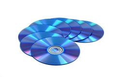 CD & DVD disk. CD & DVD disk on white background Royalty Free Stock Image