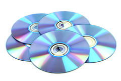 CD & DVD disk. CD & DVD disk on white background Stock Photo