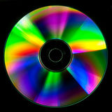 CD and DVD disk. On black background Stock Photography