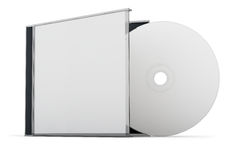 CD DVD disk. Blank CD / DVD mock up set. Clipping path included for easy selection Stock Images