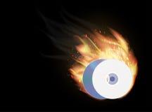 Cd dvd disk burning. A cd dvd disk burning Royalty Free Stock Image