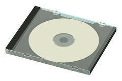 CD or DVD disk in case Stock Images