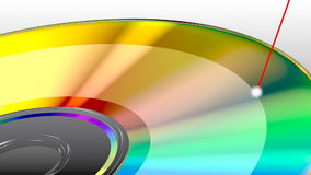 CD or DVD disk stock footage
