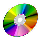 CD or DVD disk on white background Stock Photo