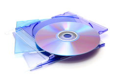 Cd and dvd disks Stock Images