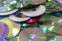 CD- DVD Disks. Compact Discs are stacked CD-DVD royalty free stock photo