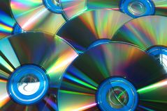 CD or DVD Disks Macro. A group of CD or DVD Disks photographed close up Royalty Free Stock Images