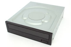 CD - DVD drive with a black cap. Royalty Free Stock Photography