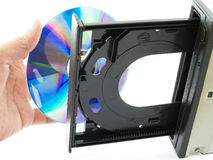 Cd or Dvd drive Royalty Free Stock Images