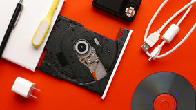 CD DVD drive. Stock Photo
