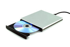 CD & DVD External Portable. CD & DVD External Portable on white background Royalty Free Stock Photos