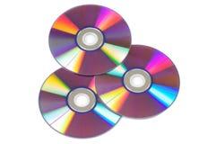 CD/DVD getrennt auf Weiß Stockbild