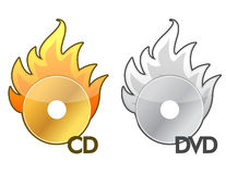 CD DVD icons Stock Image